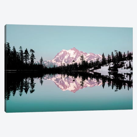 Mt. Shuksan Turquoise Mountain Lake Sunset Canvas Print #MGK394} by Nature Magick Canvas Art Print