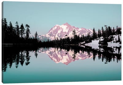 Mt. Shuksan Turquoise Mountain Lake Sunset Canvas Art Print