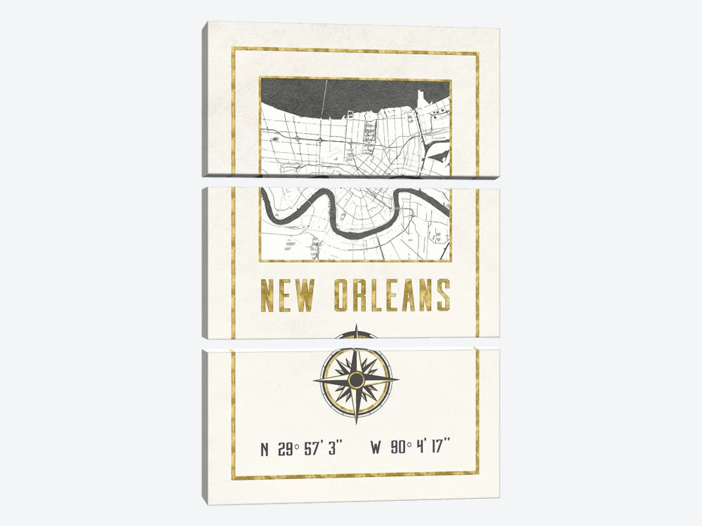 New Orleans, Louisiana by Nature Magick 3-piece Art Print