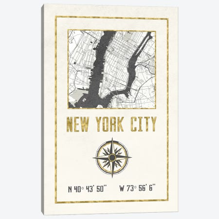New York City, NY Canvas Print #MGK397} by Nature Magick Art Print