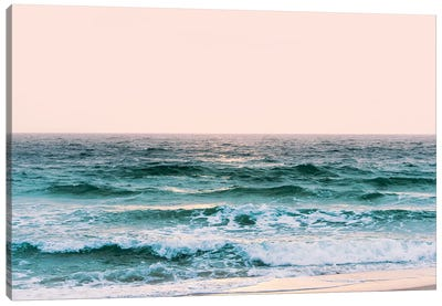 Pastel Ocean Sunset Canvas Art Print