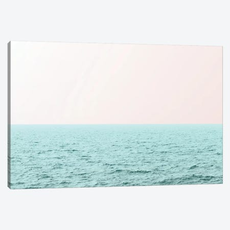 Pastel Pink Sky and Turquoise Waves Canvas Print #MGK409} by Nature Magick Canvas Artwork