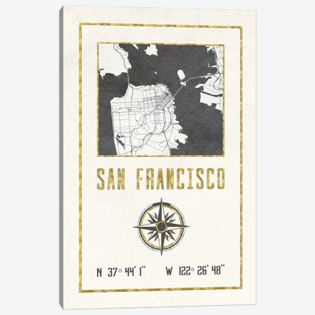 San Francisco, California Canvas Print #MGK421} by Nature Magick Canvas Wall Art