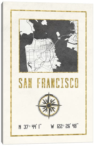 San Francisco, California Canvas Art Print
