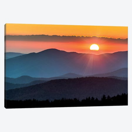 Smoky Mountain Sunset National Park Forest Canvas Print #MGK433} by Nature Magick Canvas Art Print