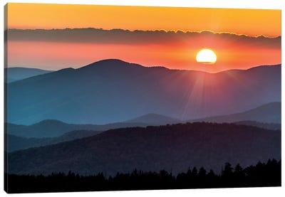Smoky Mountain Sunset National Park Forest Canvas Art Print