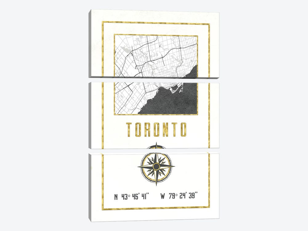 Toronto, Ontario, Canada 3-piece Canvas Wall Art