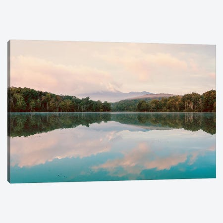 Turquoise Lake Summer Mountain Sunrise Pastel Sky Canvas Print #MGK467} by Nature Magick Art Print