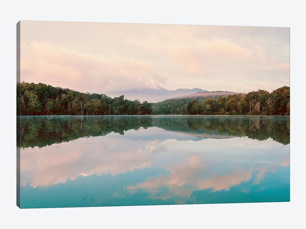 Turquoise Lake Summer Mountain Sunrise Pastel Sky by Nature Magick 1-piece Canvas Artwork