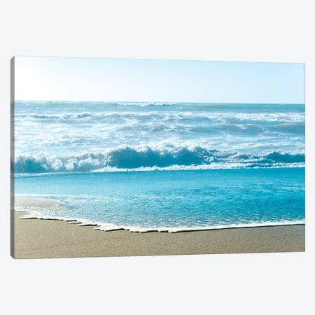 Turquoise Sea Water Beach Landscape Canvas Print #MGK471} by Nature Magick Art Print