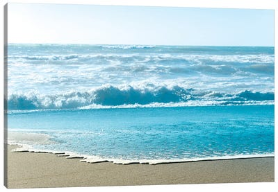 Turquoise Sea Water Beach Landscape Canvas Art Print