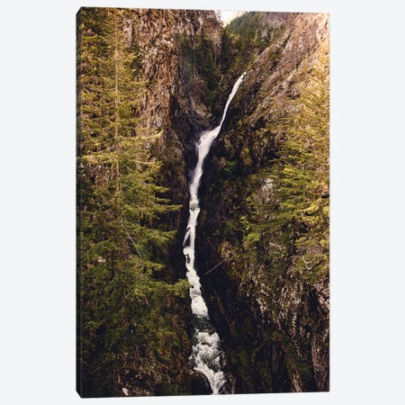 Waterfall Forest River Pacific Northwest Canvas Print #MGK484} by Nature Magick Art Print