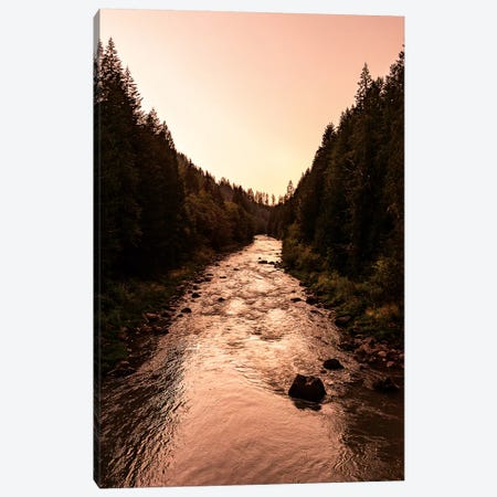 Wild Forest River Sunset Canvas Print #MGK488} by Nature Magick Canvas Artwork