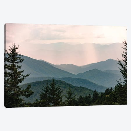 Smoky Mountain Pastel Sunset National Park Adventure Canvas Print #MGK510} by Nature Magick Canvas Artwork