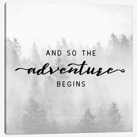 And So The Adventure Begins 3-Piece Canvas #MGK5} by Nature Magick Canvas Art Print