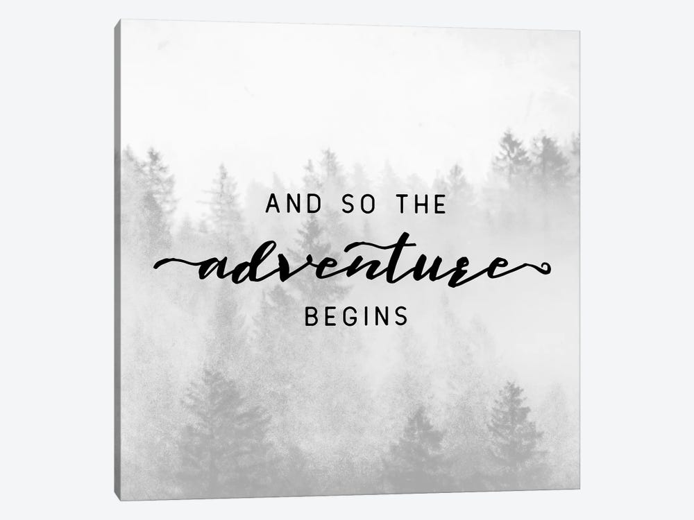 And So The Adventure Begins by Nature Magick 1-piece Canvas Art Print
