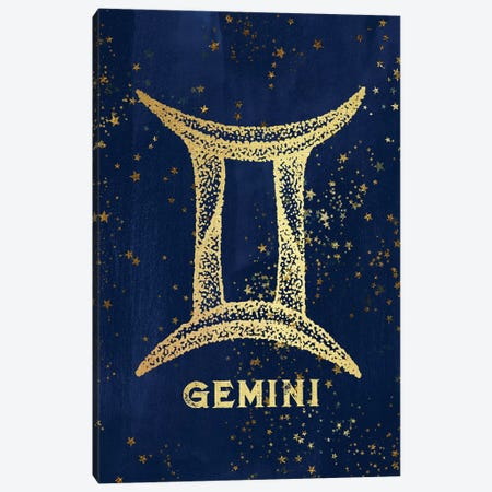 Gemini Zodiac Sign 3-Piece Canvas #MGK60} by Nature Magick Canvas Art