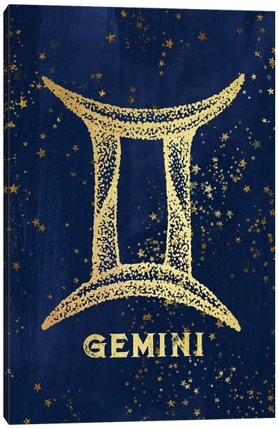 Gemini Zodiac Sign Canvas Art Print