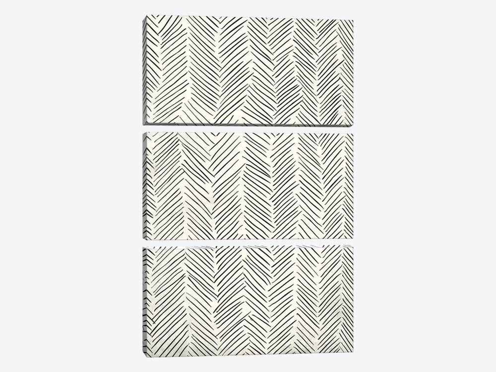 Herringbone Tribal by Nature Magick 3-piece Canvas Art Print