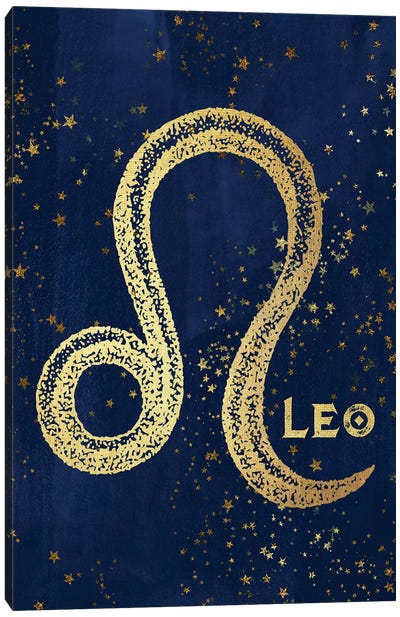 Leo Zodiac Sign Canvas Art Print