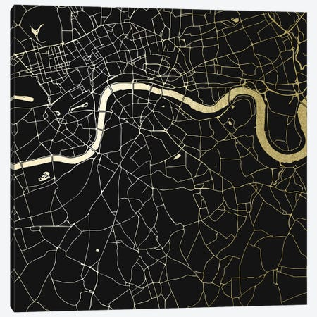 London England City Map Canvas Print #MGK67} by Nature Magick Canvas Print