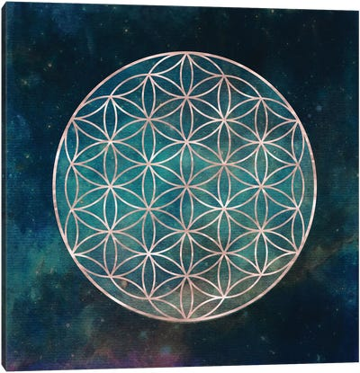 Mandala Flower Of Life Canvas Art Print