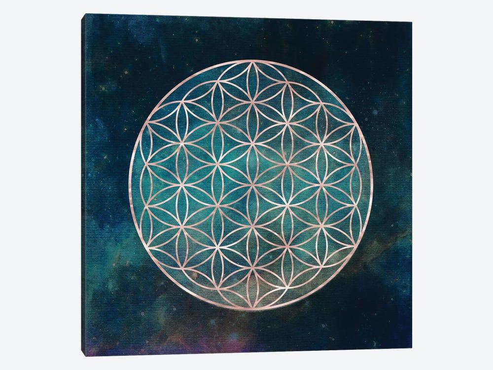 Mandala Flower Of Life by Nature Magick 1-piece Canvas Wall Art