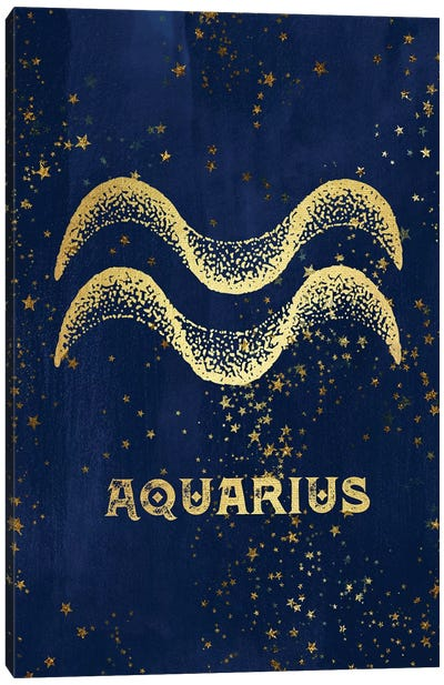 Aquarius Zodiac Sign Canvas Art Print