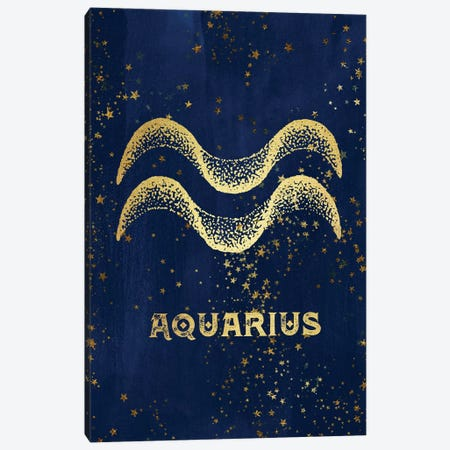 Aquarius Zodiac Sign 3-Piece Canvas #MGK7} by Nature Magick Canvas Art Print