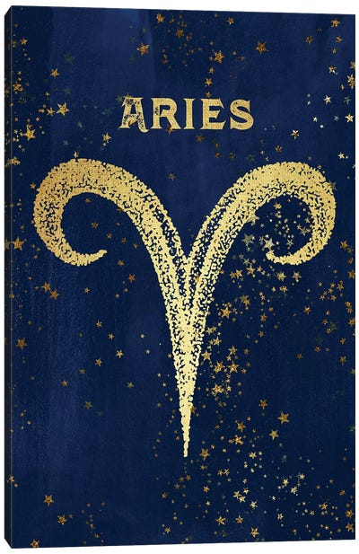 Aries Zodiac Sign Canvas Art Print