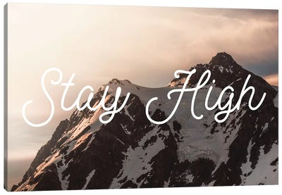 Mt. Shuksan Sunrise Stay High Canvas Art Print