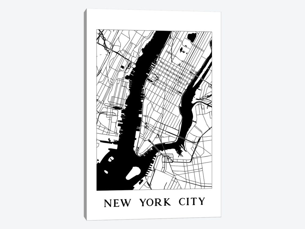 New York City Map by Nature Magick 1-piece Canvas Art