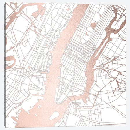 New York City Map II Canvas Print #MGK96} by Nature Magick Canvas Art
