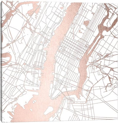 New York City Map II Canvas Art Print