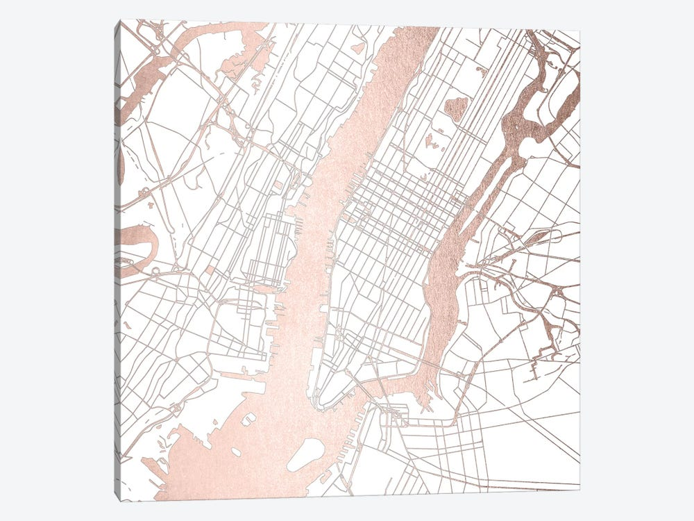 New York City Map II by Nature Magick 1-piece Art Print