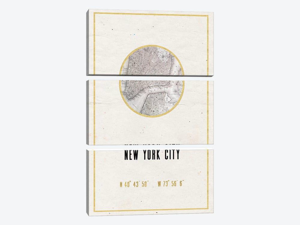 NYC, New York by Nature Magick 3-piece Canvas Wall Art