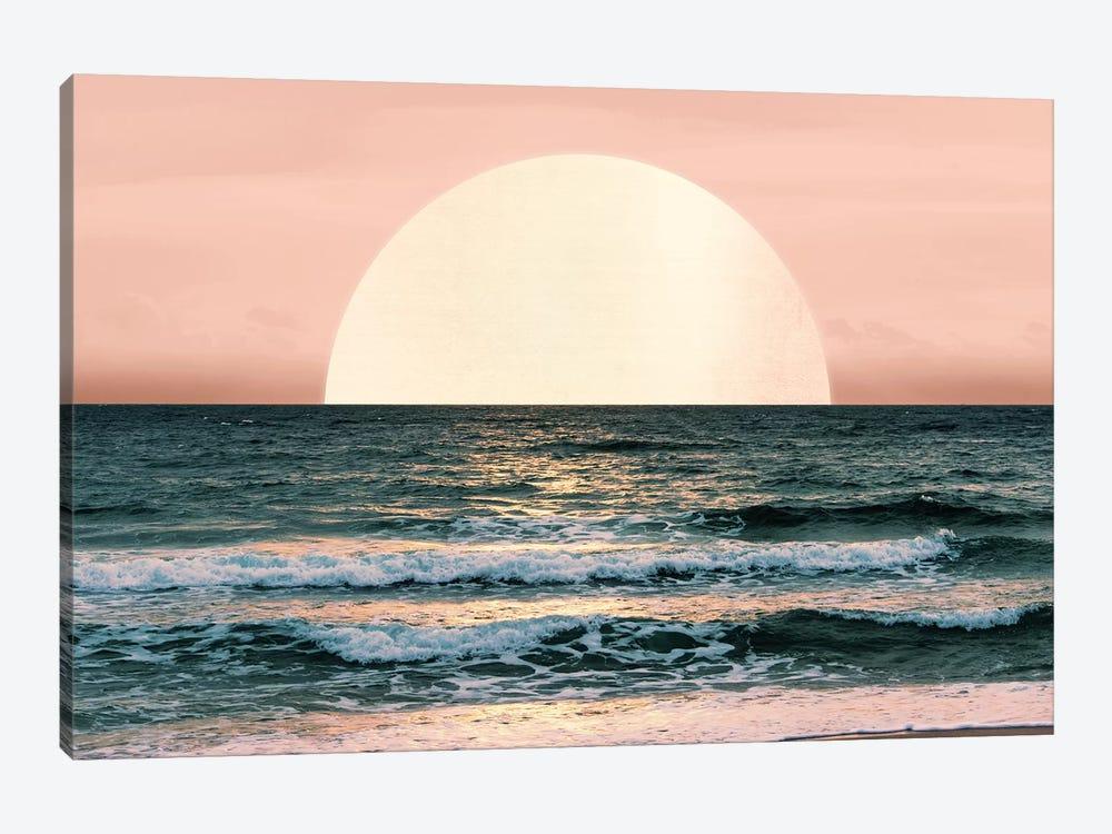 Ocean Beach Sunset by Nature Magick 1-piece Canvas Art