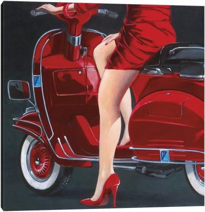 Women In Red Canvas Art Print
