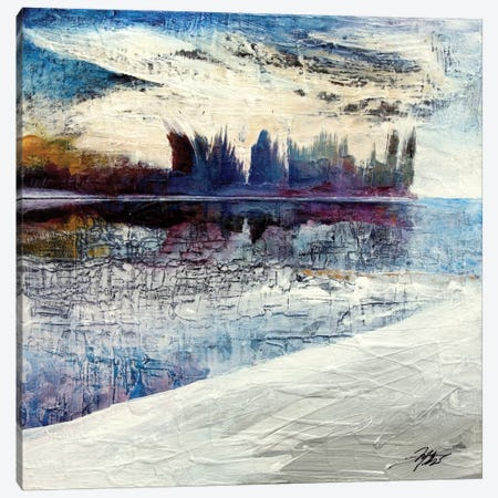On Frozen Pond Canvas Print #MGO21} by Michael Goldzweig Canvas Wall Art