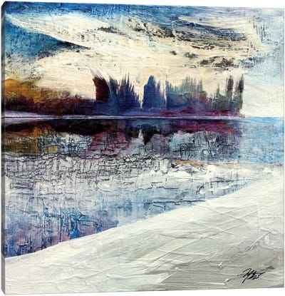 On Frozen Pond Canvas Art Print