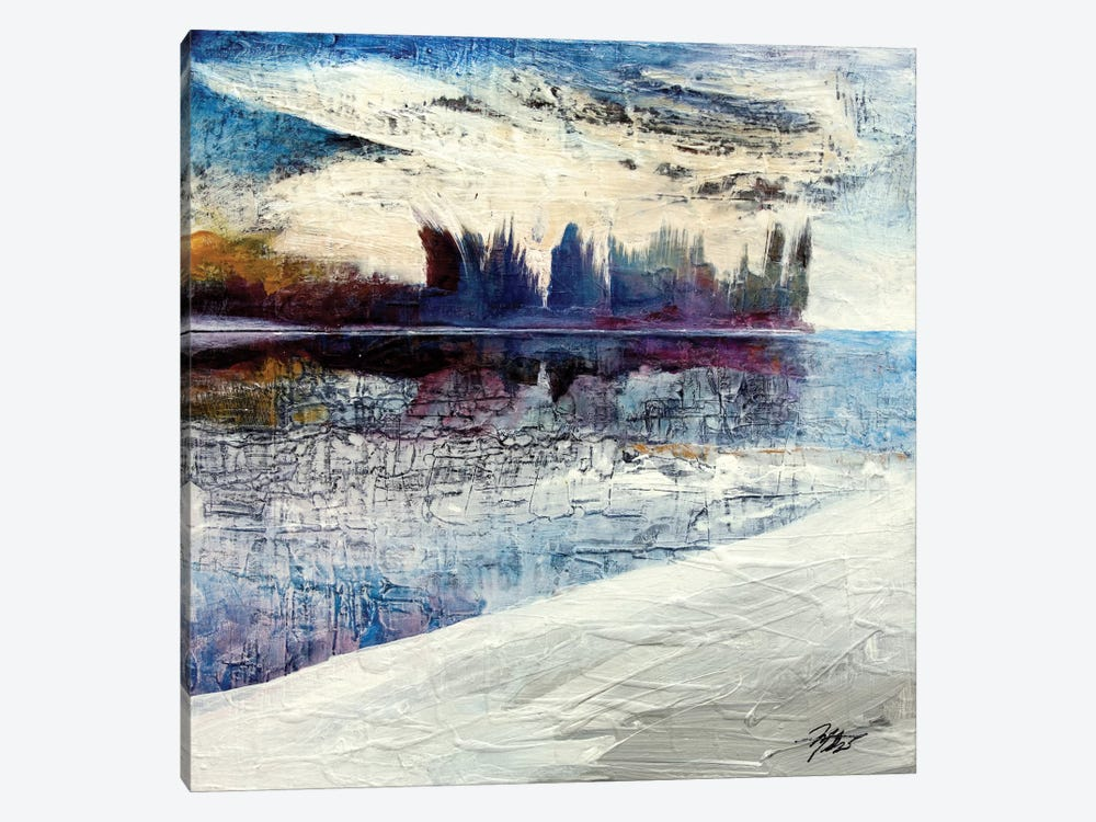 On Frozen Pond by Michael Goldzweig 1-piece Canvas Wall Art