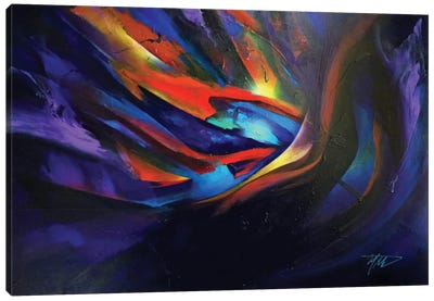 Purple Wave Canvas Art Print