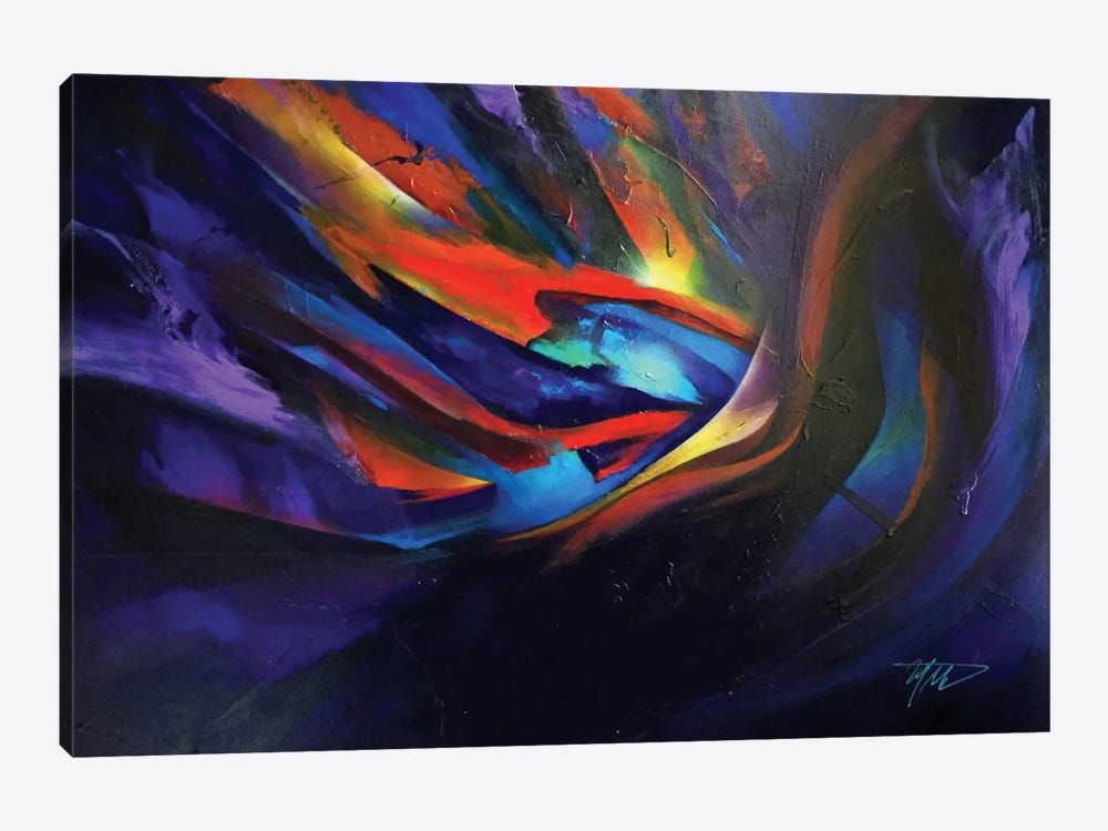 Purple Wave by Michael Goldzweig 1-piece Canvas Wall Art