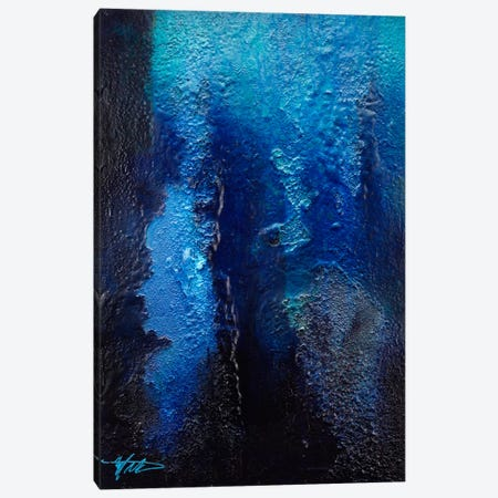 Deep Blue Coral Canvas Print #MGO2} by Michael Goldzweig Canvas Art