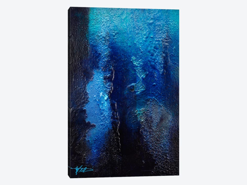 Deep Blue Coral 1-piece Canvas Wall Art