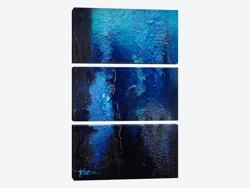 Deep Blue Coral 3-piece Canvas Artwork