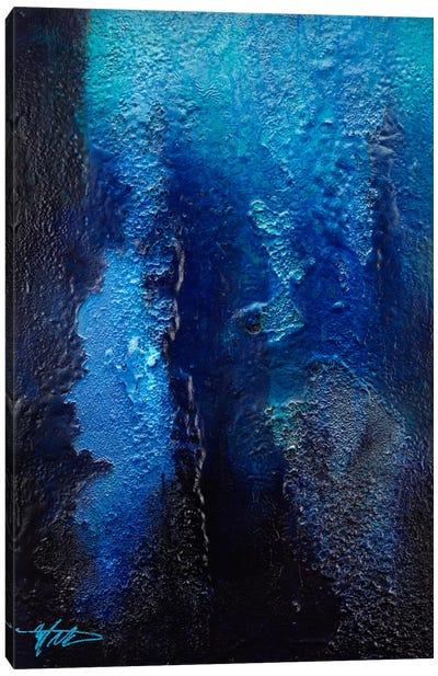 Deep Blue Coral Canvas Art Print