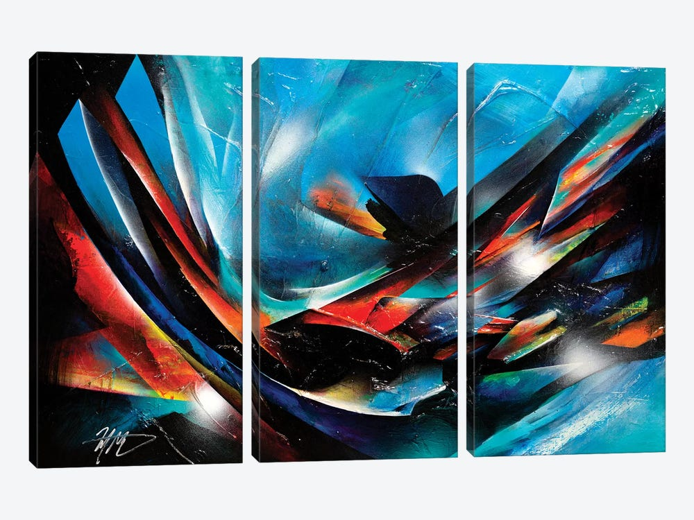 The Color Wind by Michael Goldzweig 3-piece Canvas Print