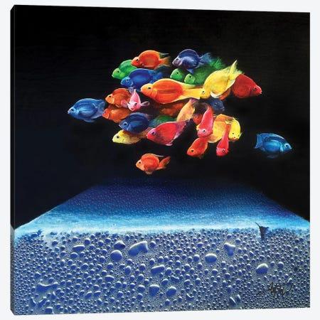 Colored Fish Canvas Print #MGO66} by Michael Goldzweig Art Print