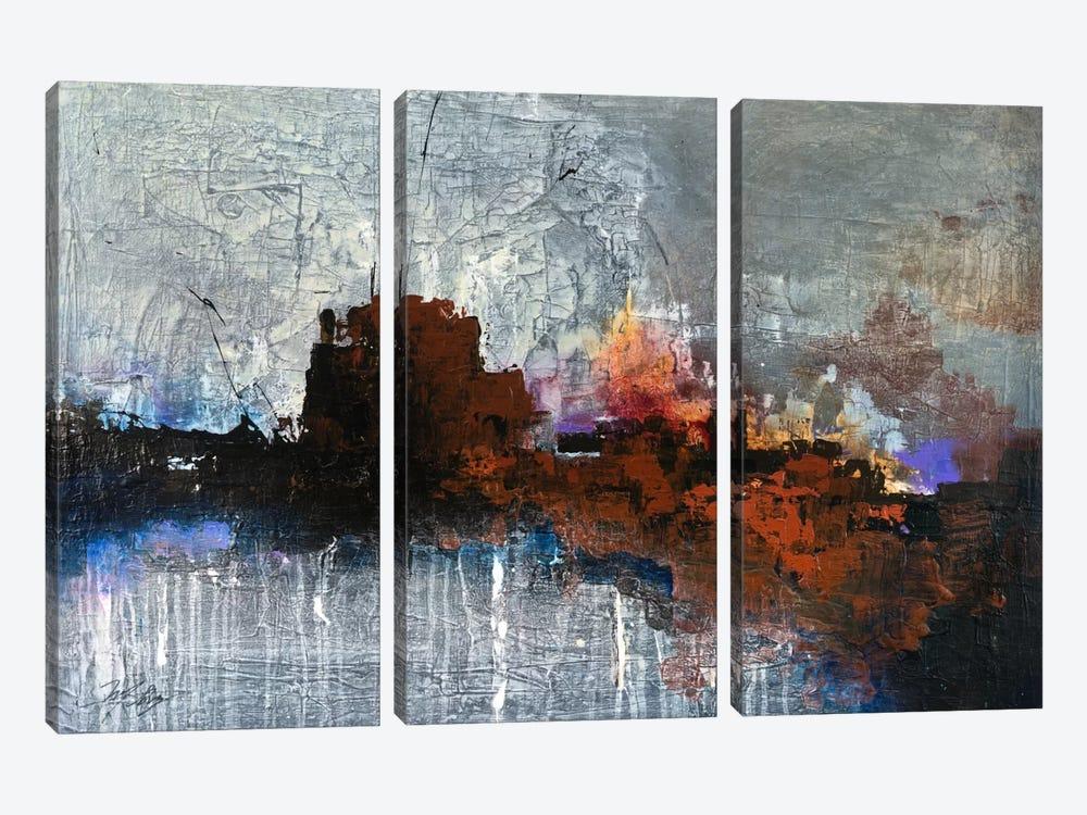 Temperature Rising by Michael Goldzweig 3-piece Canvas Art